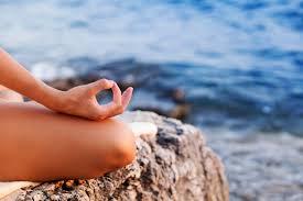 Meditating near water