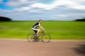 Man on Bike blurred