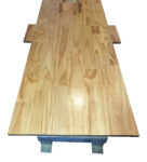 Custom Made Wooden Colonic Table Back view
