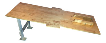 Custom Made Wooden Colonic Table side Down angle