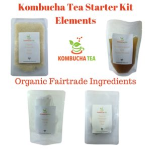 Kombucha Tea Complete Starter Kit elements 1 James Health 1000 Plus Organic Fairtrade